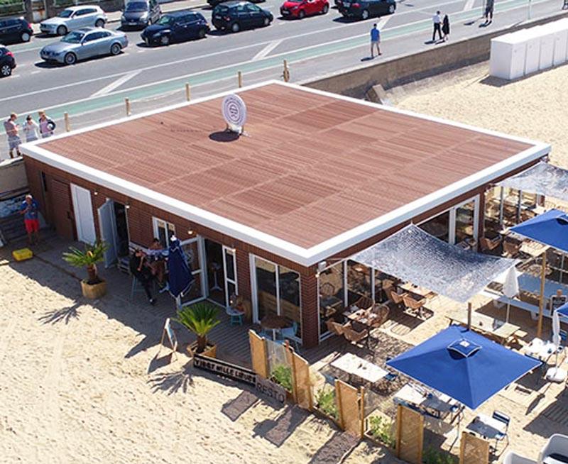 restaurant plage container